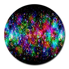 Colorful Bubble Shining Soap Rainbow Round Mousepads by Mariart