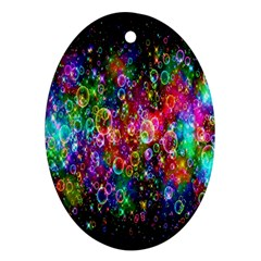 Colorful Bubble Shining Soap Rainbow Ornament (oval) by Mariart