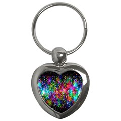 Colorful Bubble Shining Soap Rainbow Key Chains (heart)  by Mariart