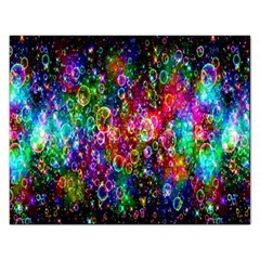Colorful Bubble Shining Soap Rainbow Rectangular Jigsaw Puzzl by Mariart