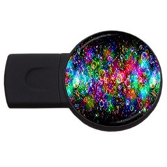 Colorful Bubble Shining Soap Rainbow Usb Flash Drive Round (4 Gb) by Mariart