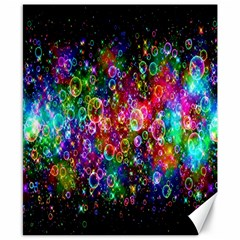 Colorful Bubble Shining Soap Rainbow Canvas 8  X 10  by Mariart