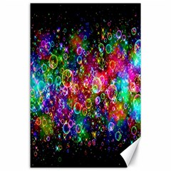 Colorful Bubble Shining Soap Rainbow Canvas 24  X 36  by Mariart