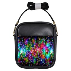 Colorful Bubble Shining Soap Rainbow Girls Sling Bags by Mariart