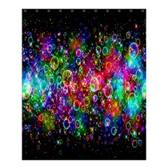 Colorful Bubble Shining Soap Rainbow Shower Curtain 60  X 72  (medium)  by Mariart