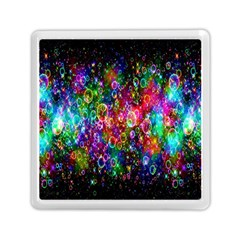 Colorful Bubble Shining Soap Rainbow Memory Card Reader (square)  by Mariart