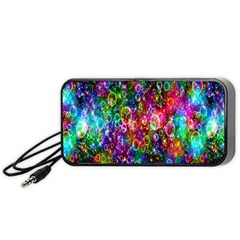 Colorful Bubble Shining Soap Rainbow Portable Speaker (black) by Mariart