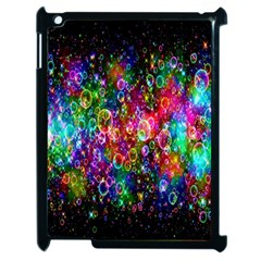 Colorful Bubble Shining Soap Rainbow Apple Ipad 2 Case (black) by Mariart