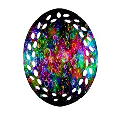 Colorful Bubble Shining Soap Rainbow Ornament (oval Filigree) by Mariart