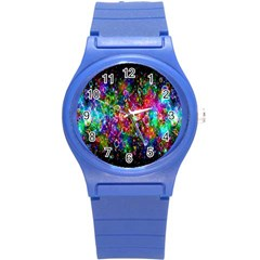 Colorful Bubble Shining Soap Rainbow Round Plastic Sport Watch (s) by Mariart