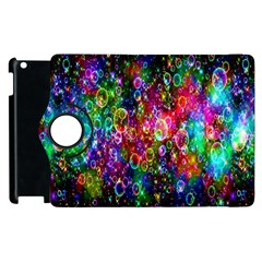 Colorful Bubble Shining Soap Rainbow Apple Ipad 2 Flip 360 Case by Mariart