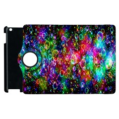 Colorful Bubble Shining Soap Rainbow Apple Ipad 3/4 Flip 360 Case by Mariart