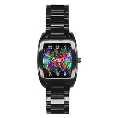 Colorful Bubble Shining Soap Rainbow Stainless Steel Barrel Watch by Mariart