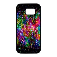 Colorful Bubble Shining Soap Rainbow Samsung Galaxy S7 Edge Black Seamless Case by Mariart