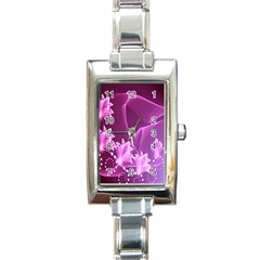 Lotus Sunflower Sakura Flower Floral Pink Purple Polka Leaf Polkadot Waves Wave Chevron Rectangle Italian Charm Watch by Mariart