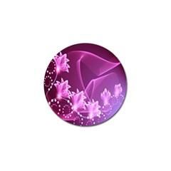 Lotus Sunflower Sakura Flower Floral Pink Purple Polka Leaf Polkadot Waves Wave Chevron Golf Ball Marker (4 Pack) by Mariart