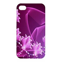 Lotus Sunflower Sakura Flower Floral Pink Purple Polka Leaf Polkadot Waves Wave Chevron Apple Iphone 4/4s Hardshell Case by Mariart