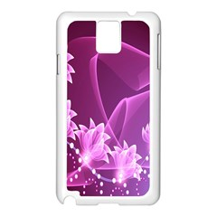 Lotus Sunflower Sakura Flower Floral Pink Purple Polka Leaf Polkadot Waves Wave Chevron Samsung Galaxy Note 3 N9005 Case (white)