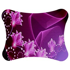 Lotus Sunflower Sakura Flower Floral Pink Purple Polka Leaf Polkadot Waves Wave Chevron Jigsaw Puzzle Photo Stand (bow) by Mariart