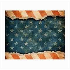 Grunge Ripped Paper Usa Flag Small Glasses Cloth (2 Side) by Mariart
