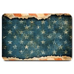 Grunge Ripped Paper Usa Flag Large Doormat  by Mariart