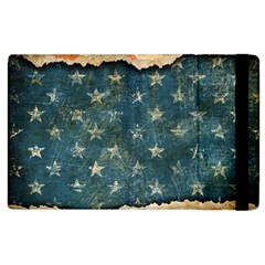 Grunge Ripped Paper Usa Flag Apple Ipad 2 Flip Case by Mariart