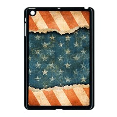 Grunge Ripped Paper Usa Flag Apple Ipad Mini Case (black) by Mariart