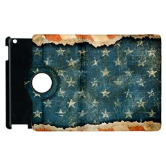Grunge Ripped Paper Usa Flag Apple Ipad 2 Flip 360 Case by Mariart