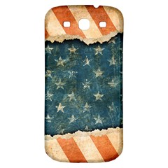 Grunge Ripped Paper Usa Flag Samsung Galaxy S3 S Iii Classic Hardshell Back Case by Mariart