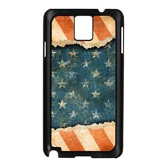 Grunge Ripped Paper Usa Flag Samsung Galaxy Note 3 N9005 Case (black) by Mariart