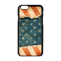 Grunge Ripped Paper Usa Flag Apple Iphone 6/6s Black Enamel Case by Mariart