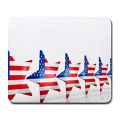 Multiple Us Flag Stars Line Slide Large Mousepads by Mariart