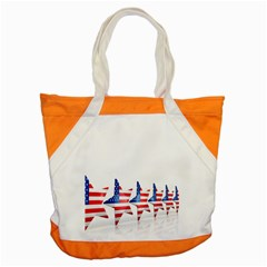 Multiple Us Flag Stars Line Slide Accent Tote Bag by Mariart