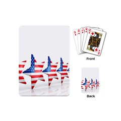 Multiple Us Flag Stars Line Slide Playing Cards (mini)  by Mariart