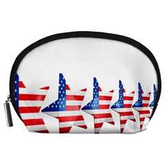 Multiple Us Flag Stars Line Slide Accessory Pouches (large)  by Mariart