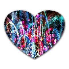 Fireworks Rainbow Heart Mousepads by Mariart
