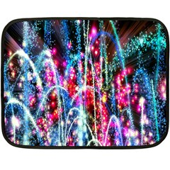 Fireworks Rainbow Double Sided Fleece Blanket (mini)  by Mariart