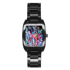 Fireworks Rainbow Stainless Steel Barrel Watch by Mariart