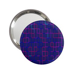 Grid Lines Square Pink Cyan Purple Blue Squares Lines Plaid 2 25  Handbag Mirrors by Mariart