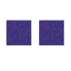 Grid Lines Square Pink Cyan Purple Blue Squares Lines Plaid Cufflinks (square)