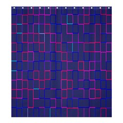 Grid Lines Square Pink Cyan Purple Blue Squares Lines Plaid Shower Curtain 66  X 72  (large)  by Mariart