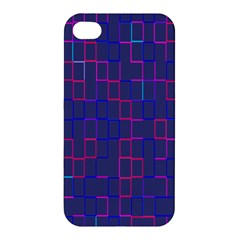 Grid Lines Square Pink Cyan Purple Blue Squares Lines Plaid Apple Iphone 4/4s Hardshell Case by Mariart