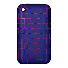 Grid Lines Square Pink Cyan Purple Blue Squares Lines Plaid Iphone 3s/3gs by Mariart