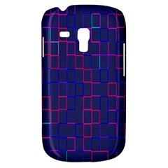 Grid Lines Square Pink Cyan Purple Blue Squares Lines Plaid Galaxy S3 Mini by Mariart