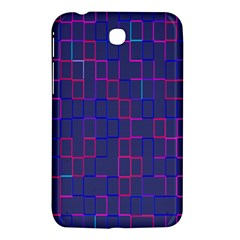 Grid Lines Square Pink Cyan Purple Blue Squares Lines Plaid Samsung Galaxy Tab 3 (7 ) P3200 Hardshell Case  by Mariart