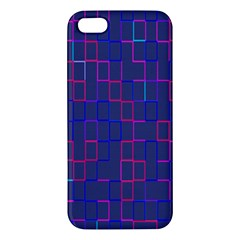 Grid Lines Square Pink Cyan Purple Blue Squares Lines Plaid Iphone 5s/ Se Premium Hardshell Case by Mariart