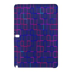 Grid Lines Square Pink Cyan Purple Blue Squares Lines Plaid Samsung Galaxy Tab Pro 12 2 Hardshell Case by Mariart