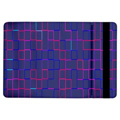 Grid Lines Square Pink Cyan Purple Blue Squares Lines Plaid Ipad Air Flip by Mariart