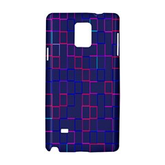 Grid Lines Square Pink Cyan Purple Blue Squares Lines Plaid Samsung Galaxy Note 4 Hardshell Case by Mariart
