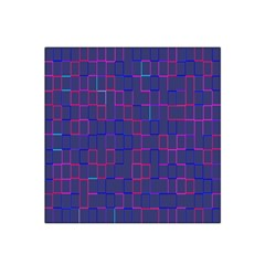Grid Lines Square Pink Cyan Purple Blue Squares Lines Plaid Satin Bandana Scarf by Mariart